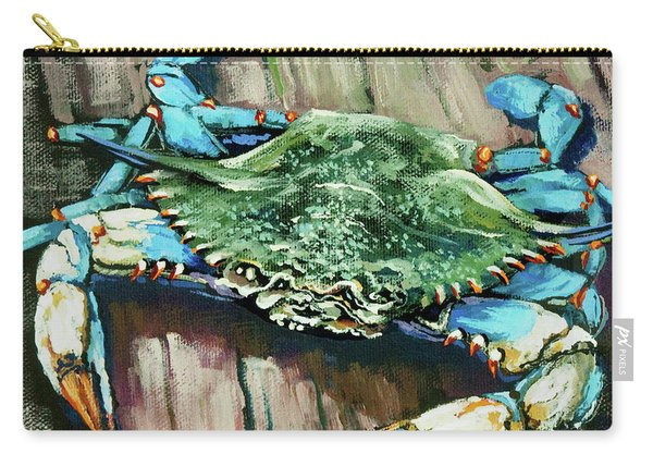 Crabby Blue Carry-all Pouch