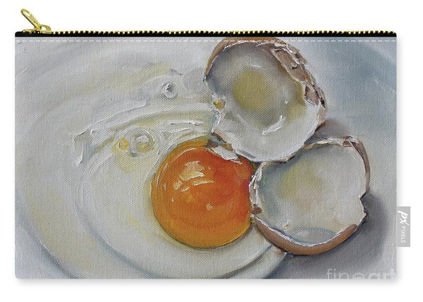Cracked Brown Egg Carry-all Pouch