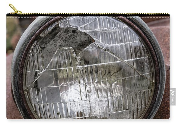 Cracked Headlight On An Old Truck Carry-all Pouch