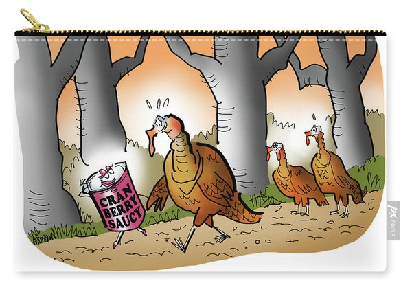 Carry-all Pouch featuring the digital art Cranberry Saucy by Mark Armstrong