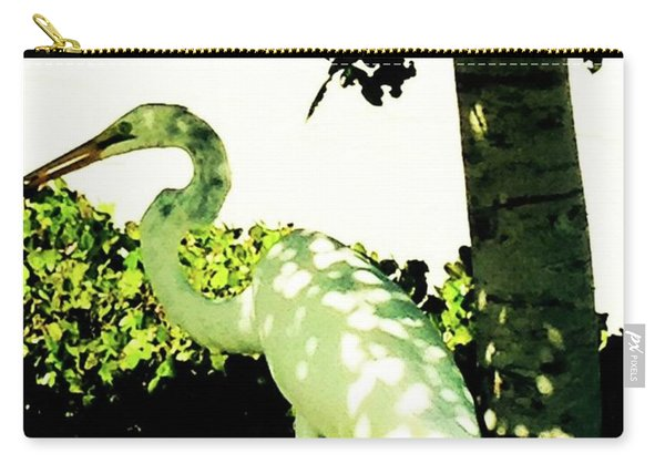 Crane In Need Of Shade Carry-all Pouch