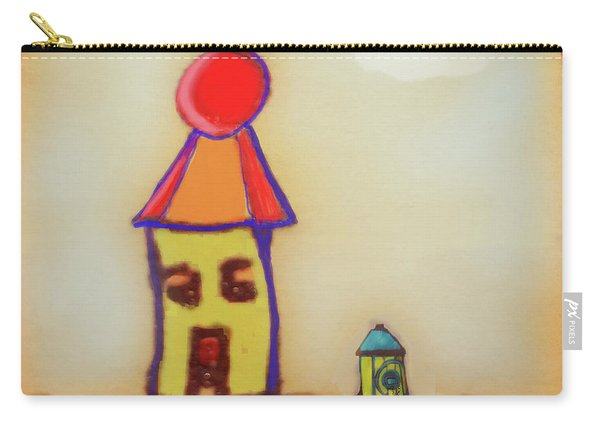 Cranky Clown Cabana And Fire Hydrant Carry-all Pouch
