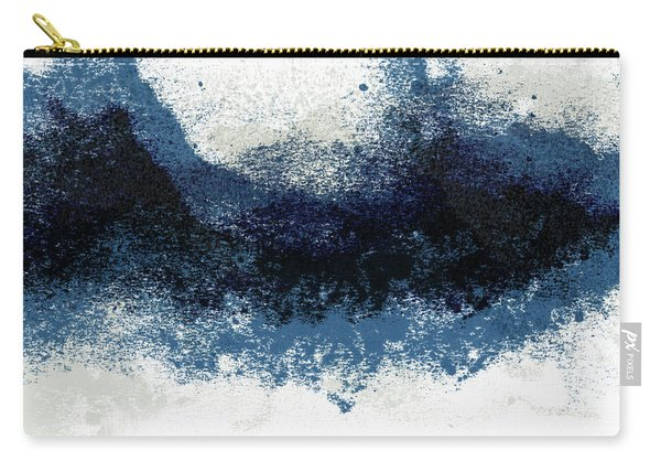 Crashing Waves- Minimal Art By Linda Woods Carry-all Pouch
