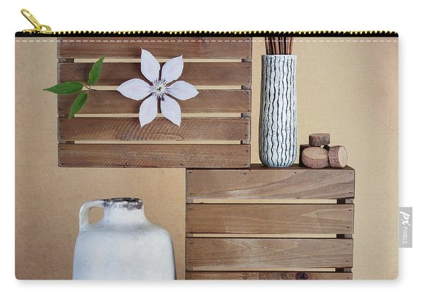 Crates With Flower Still Life Carry-all Pouch
