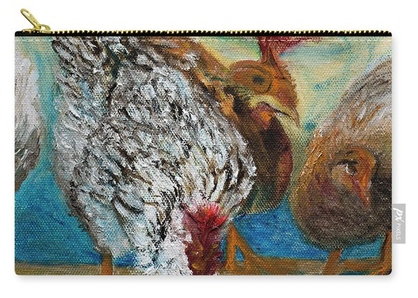 Crazy Chickens Carry-all Pouch