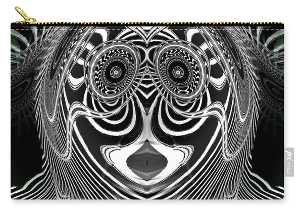 Carry-all Pouch featuring the digital art Crazy Girl Saloon by Visual Artist Frank Bonilla