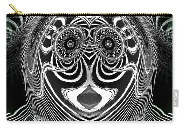 Carry-all Pouch featuring the digital art Crazy Girl by Visual Artist Frank Bonilla