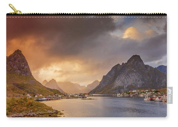 Crazy Sunset In Lofoten Carry-all Pouch