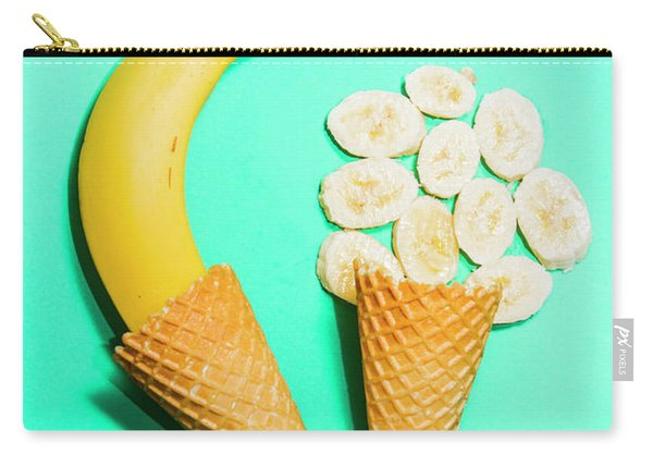 Creative Banana Ice-cream Still Life Art Carry-all Pouch
