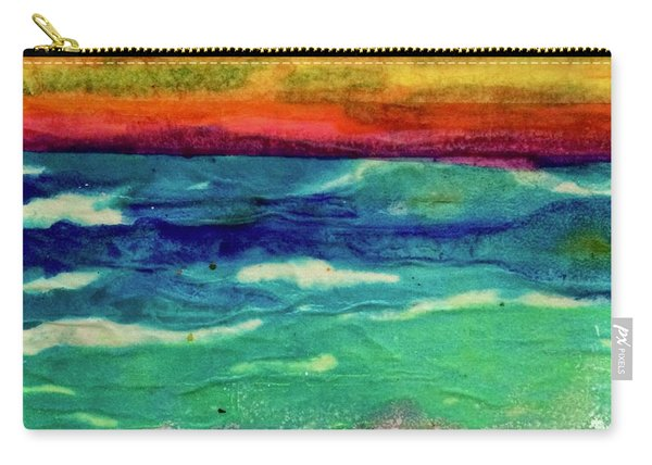 Crepe Paper Sunset Carry-all Pouch