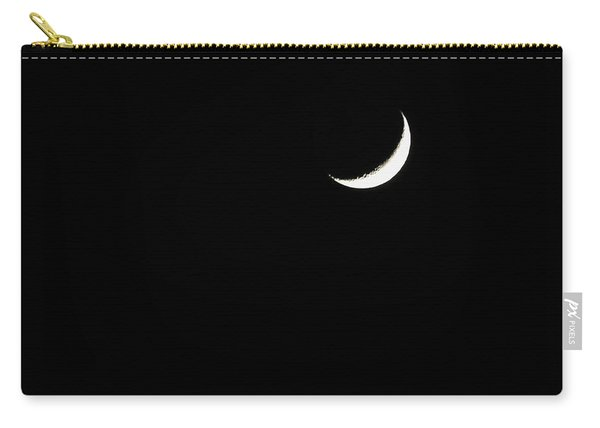 Carry-all Pouch featuring the photograph Crescent Moon  by Alison Frank