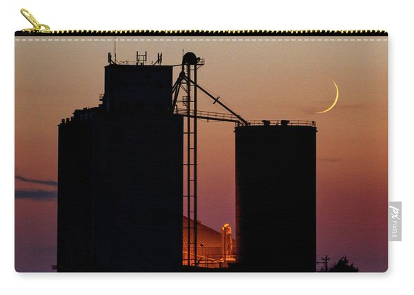 Carry-all Pouch featuring the photograph Crescent Moon At Laird 03 by Rob Graham