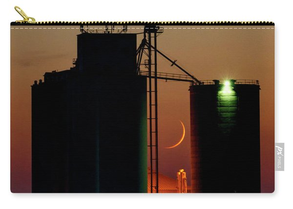 Carry-all Pouch featuring the photograph Crescent Moon At Laird 07 by Rob Graham
