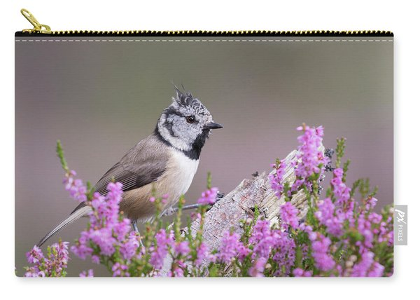 Crested Tit In Heather Carry-all Pouch