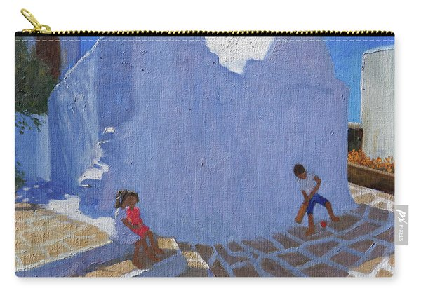 Cricket By The Church Wall, Mykonos  Carry-all Pouch
