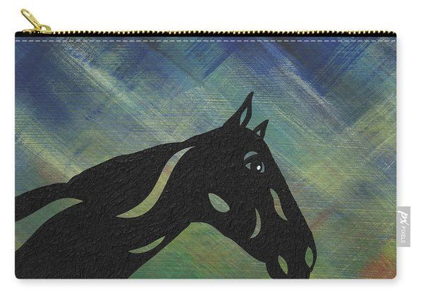Crimson - Abstract Horse Carry-all Pouch