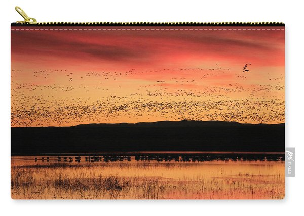 Crimson Sunset At Bosque Carry-all Pouch