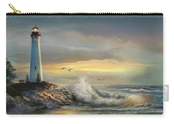 Crisp Point Lighthouse At Sunset  Carry-all Pouch