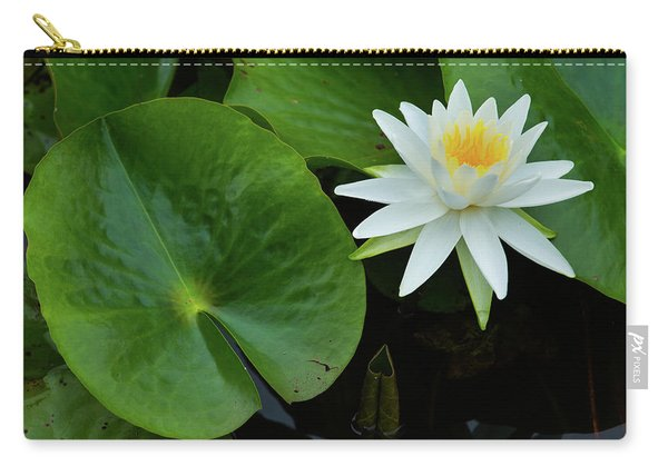 Crisp White And Yellow Lily Carry-all Pouch