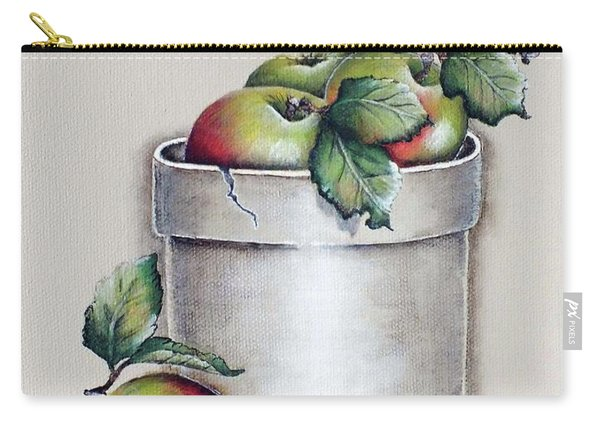 Crock Of Apples Acrylic Painting Carry-all Pouch