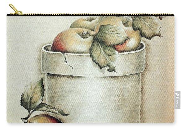Crock Of Apples - Vintage Carry-all Pouch