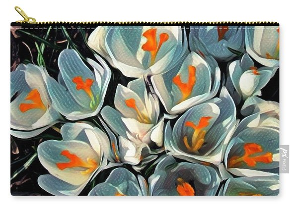 Crocus In The Shadows Carry-all Pouch