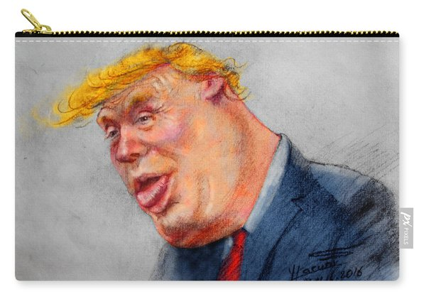 Crooked Trump Carry-all Pouch