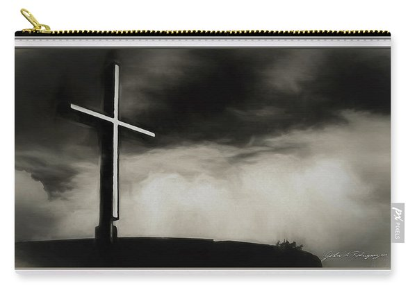 Cross On A Hill Carry-all Pouch