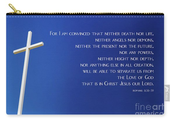 Cross With Blue Sky Carry-all Pouch