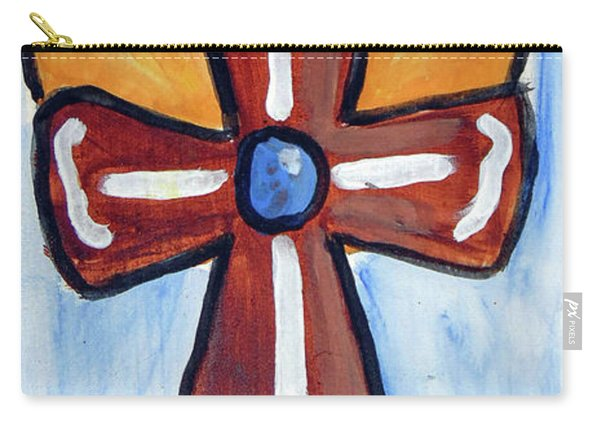 Carry-all Pouch featuring the drawing Cross2345 by Loretta Nash