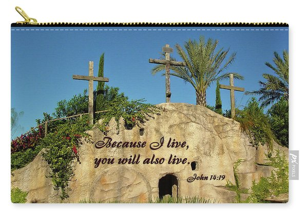 Crosses And Resurrection Carry-all Pouch