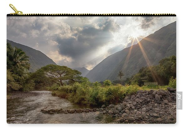 Crossing Hiilawe Stream Carry-all Pouch