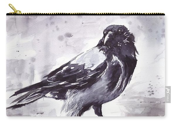 Crow Watercolor Carry-all Pouch