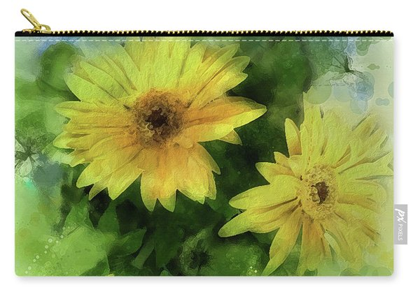 Carry-all Pouch featuring the digital art Crown Jewels by Gina Harrison