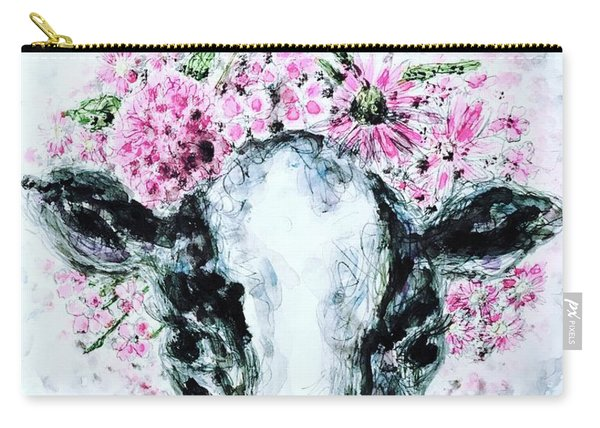 Crown Of Flowers Cow Carry-all Pouch