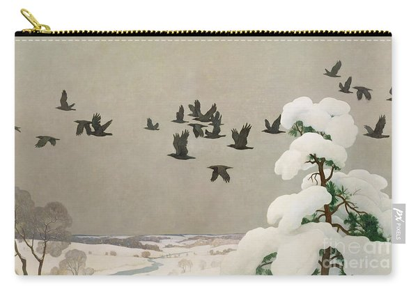 Crows In Winter Carry-all Pouch