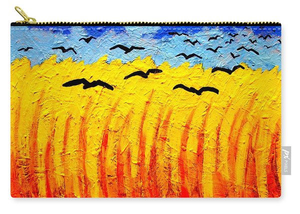 Crows Over Vincent's Field Carry-all Pouch