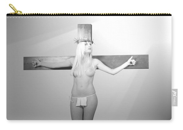 Crucifix And Light Carry-all Pouch
