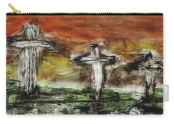 Carry-all Pouch featuring the painting Crucifixion #2 by Michael Lucarelli