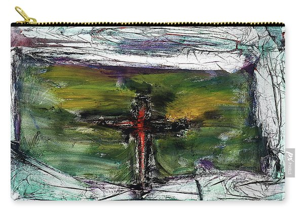 Carry-all Pouch featuring the painting Crucifixion #3 by Michael Lucarelli