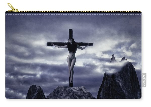 Crucifixion On The Mountain Carry-all Pouch