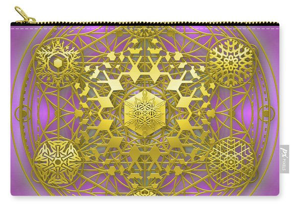 Carry-all Pouch featuring the digital art Crystal 1 by Robert Thalmeier