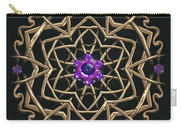 Carry-all Pouch featuring the digital art Crystal 19 by Robert Thalmeier