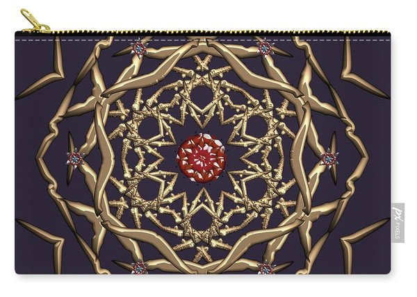 Carry-all Pouch featuring the digital art Crystal 21 by Robert Thalmeier