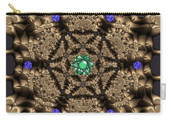Carry-all Pouch featuring the digital art Crystal 22 by Robert Thalmeier