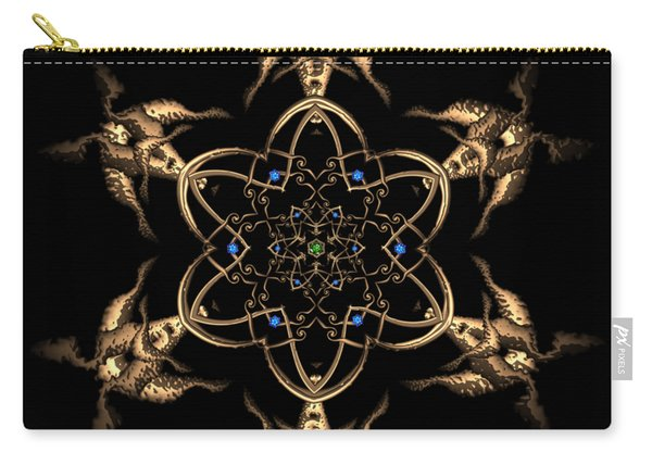 Carry-all Pouch featuring the digital art Crystal 24 by Robert Thalmeier