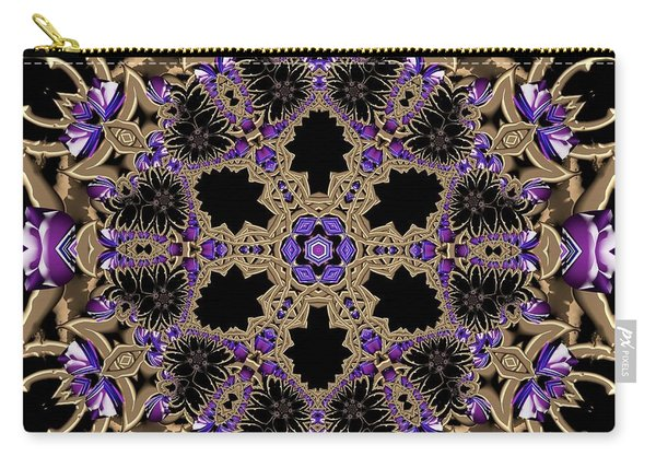 Carry-all Pouch featuring the digital art Crystal 613433 by Robert Thalmeier