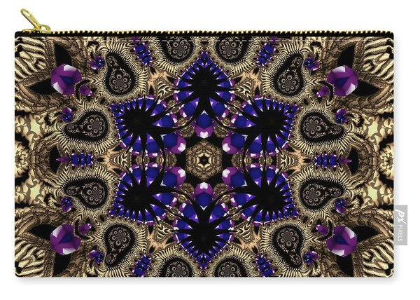 Carry-all Pouch featuring the digital art Crystal 61345 by Robert Thalmeier