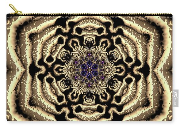 Carry-all Pouch featuring the digital art Crystal 613455 by Robert Thalmeier