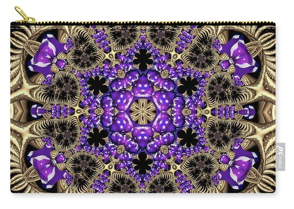 Carry-all Pouch featuring the digital art Crystal 6138 by Robert Thalmeier